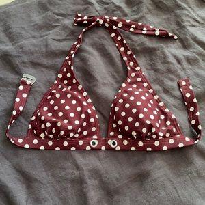 3/$25 - size S - Polka dot bikini top
